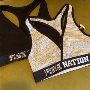 Pink sports bra bundle